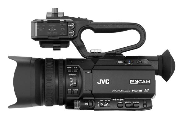 JVC GY-HM200SP and GY-HM200BC graphics overlay camcorders